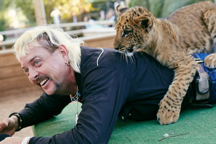 Joe Exotic w swoim zoo - 2015