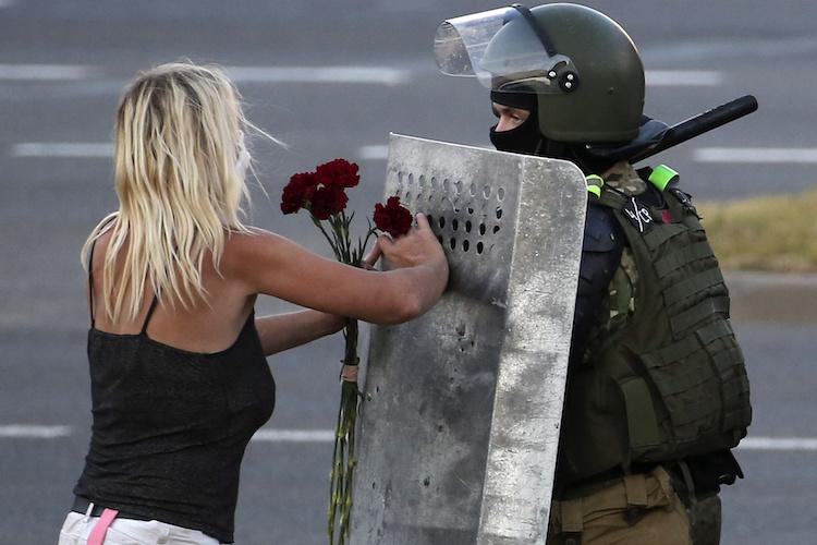 Mass protests in Minsk, Belarus