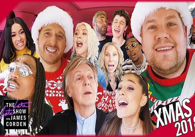 Migos, Ariana Grande, Cardi B i inni wzięli udział w świątecznej edycji Carpool Karaoke