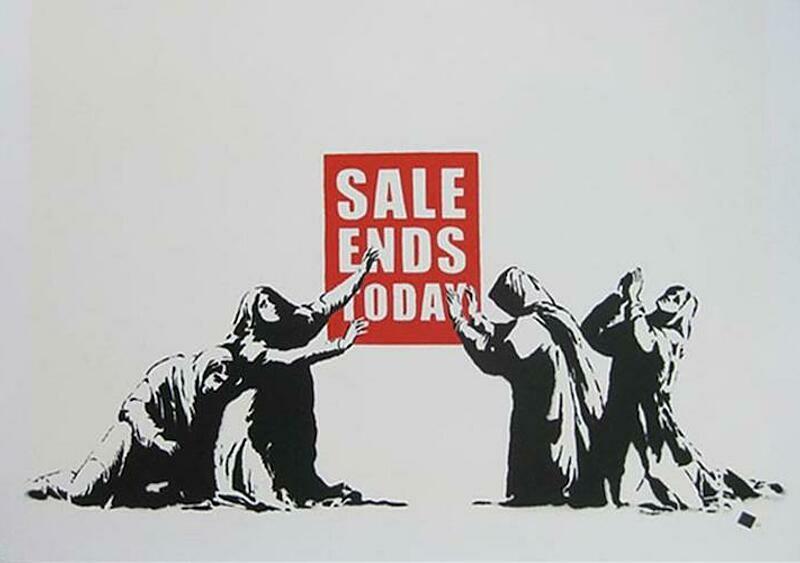 Chcecie kupić merch od Banksy'ego na przecenie? To mamy dla was fajną propozycję