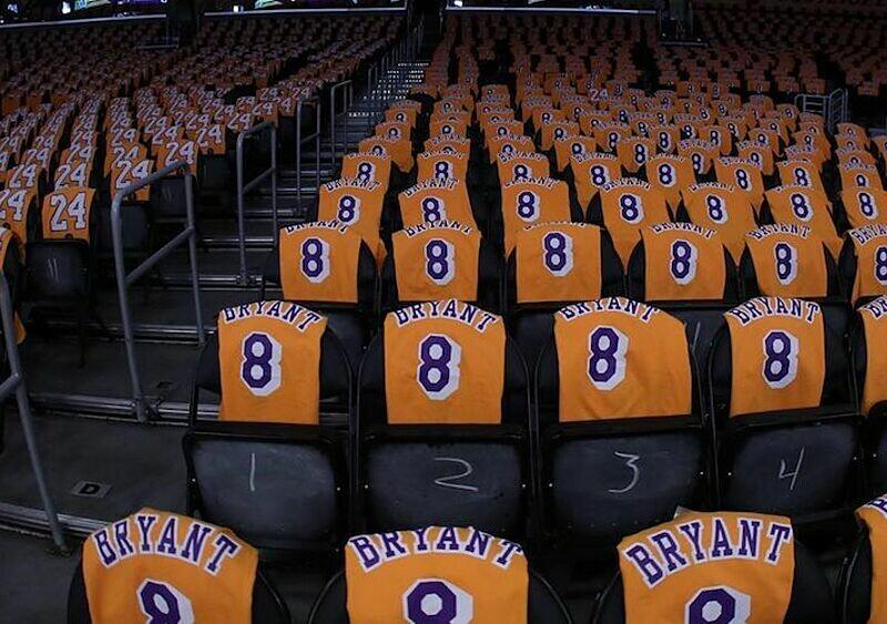 Los Angeles Lakers rozdali fanom ponad 20 000 pamiątkowych koszulek Kobe Bryanta