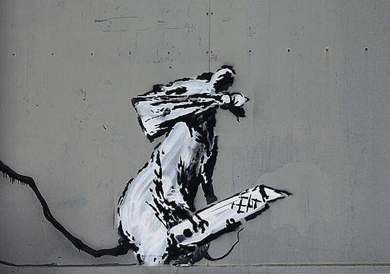 W Paryżu ktoś ukradł pracę Banksy'ego. I zrobił to przy pomocy... piły