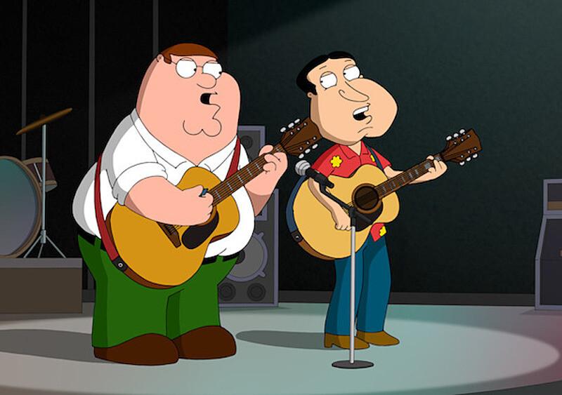 10 momentów, w których twórcy Family Guy mieli bekę z muzyków